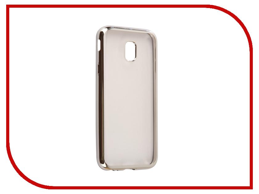 Аксессуар Чехол Samsung Galaxy J3 2017 J330F Svekla Flash Silicone Silver Frame SVF-SGJ330F-SIL аксессуар чехол samsung galaxy a5 2017 a520f svekla flash silicone silver frame svf sga520f sil