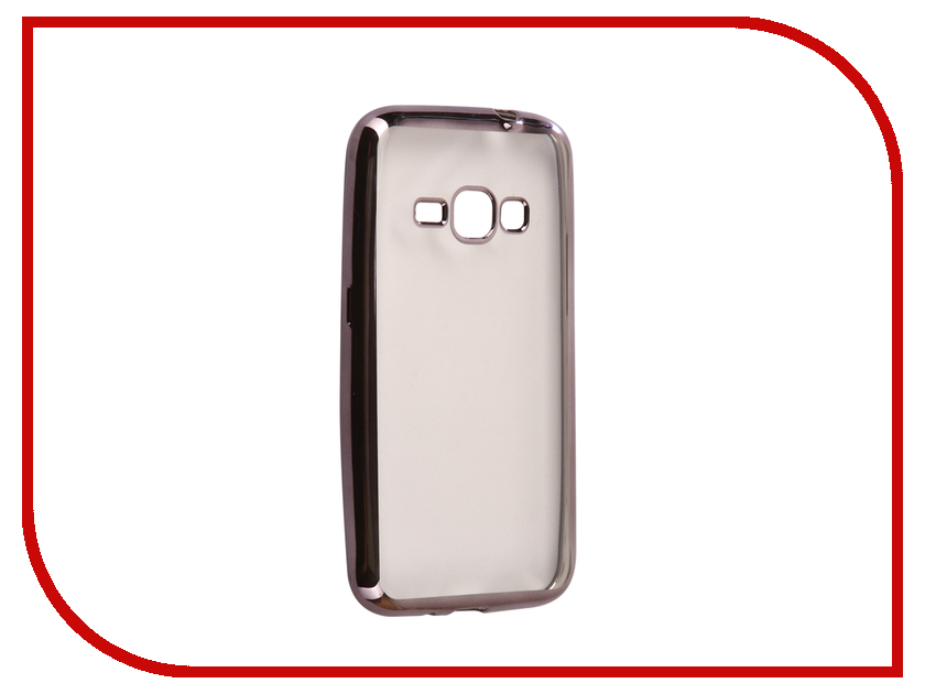 Аксессуар Чехол Samsung Galaxy J1 2016 J120F Svekla Flash Silicone Black Frame SVF-SGJ120F-BL аксессуар чехол samsung galaxy j1 2016 armor air slim black gb f sgj1 2016 bl