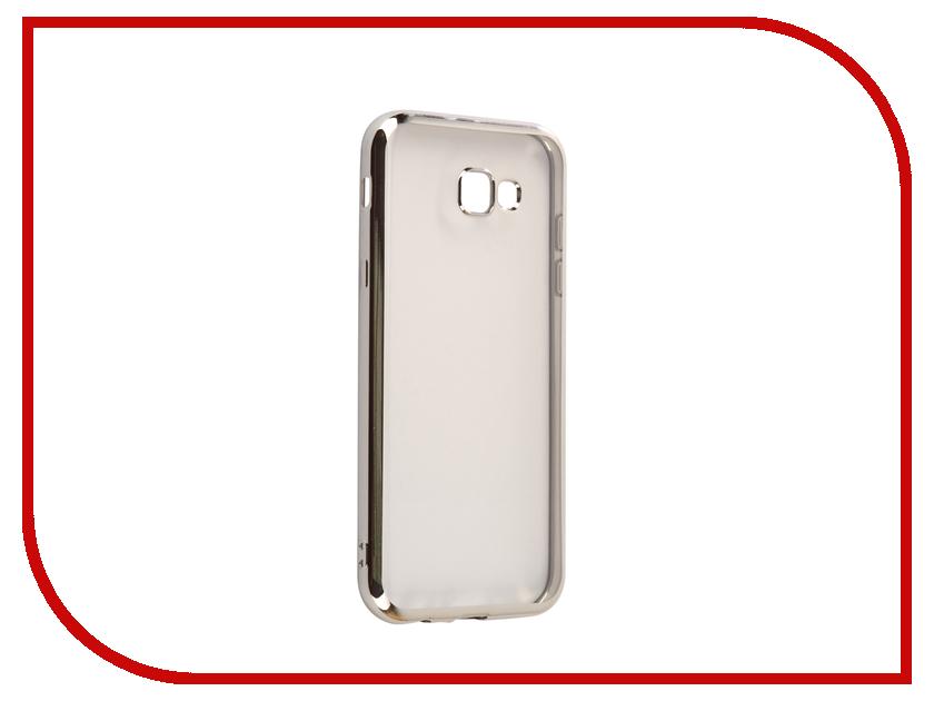Аксессуар Чехол Samsung Galaxy A7 2017 A720F Svekla Flash Silicone Silver Frame SVF-SGA720F-SIL аксессуар чехол samsung galaxy j2 prime g532f svekla flash silicone silver svf sgg532f sil