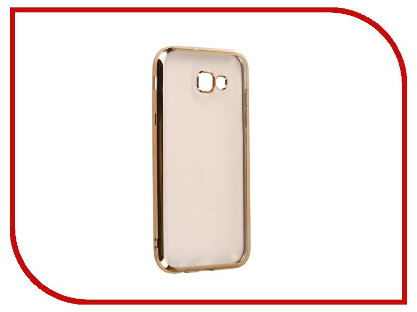 Аксессуар Чехол для Samsung Galaxy A7 2017 A720F Svekla Flash Silicone Gold Frame SVF-SGA720F-GOLD аксессуар чехол для samsung galaxy a3 2017 a320f svekla flash silicone gold frame svf sga320f gold