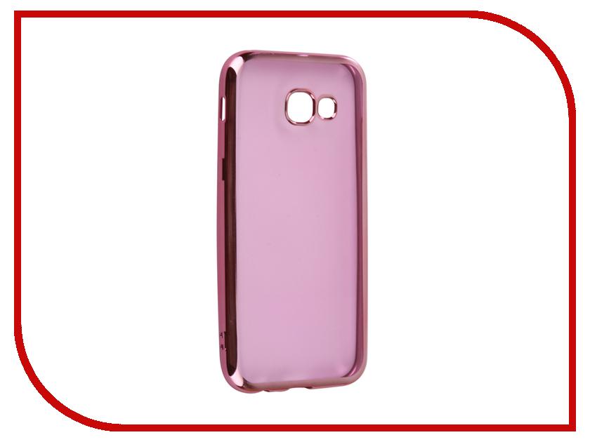 Аксессуар Чехол Samsung Galaxy A5 2017 A520F Svekla Flash Silicone Pink Frame SVF-SGA520F-PINK аксессуар чехол samsung galaxy a5 2017 a520f svekla flash silicone silver frame svf sga520f sil