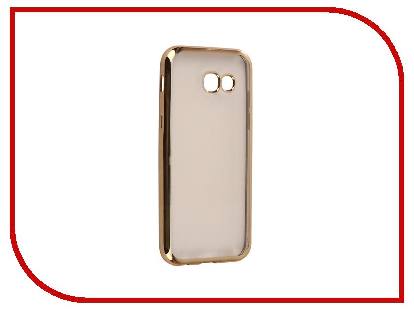 Аксессуар Чехол для Samsung Galaxy A5 2017 A520F Svekla Flash Silicone Gold Frame SVF-SGA520F-GOLD аксессуар чехол для samsung galaxy a5 2017 a520f svekla silicone black sv sga520f mbl