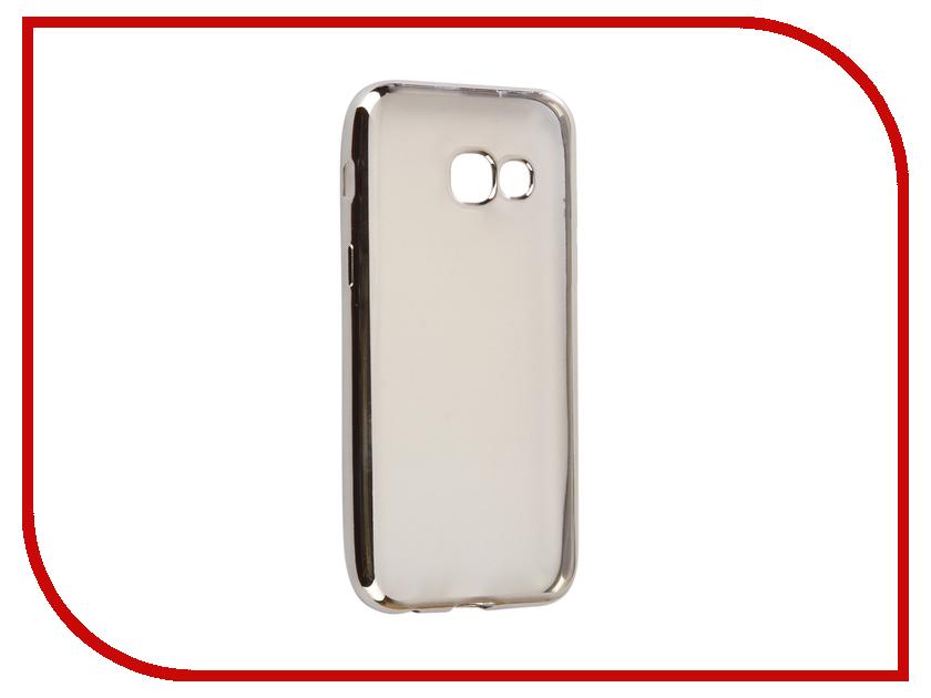 Аксессуар Чехол Samsung Galaxy A3 2017 A320F Svekla Flash Silicone Silver Frame SVF-SGA320F-SIL аксессуар чехол samsung galaxy j2 prime g532f svekla flash silicone black svf sgg532f bl