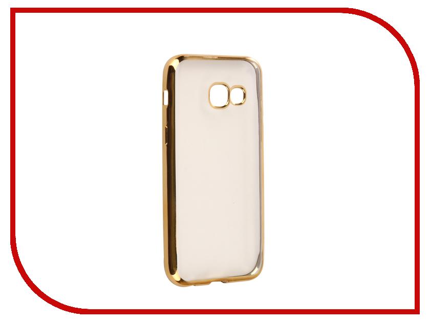Аксессуар Чехол для Samsung Galaxy A3 2017 A320F Svekla Flash Silicone Gold Frame SVF-SGA320F-GOLD black open frame gold trim glasses