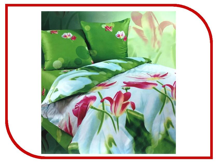 Постельное белье Экзотика Милана Комплект 1.5 спальный Сатин постельное белье эго комплект 1 5 спальный полисатин