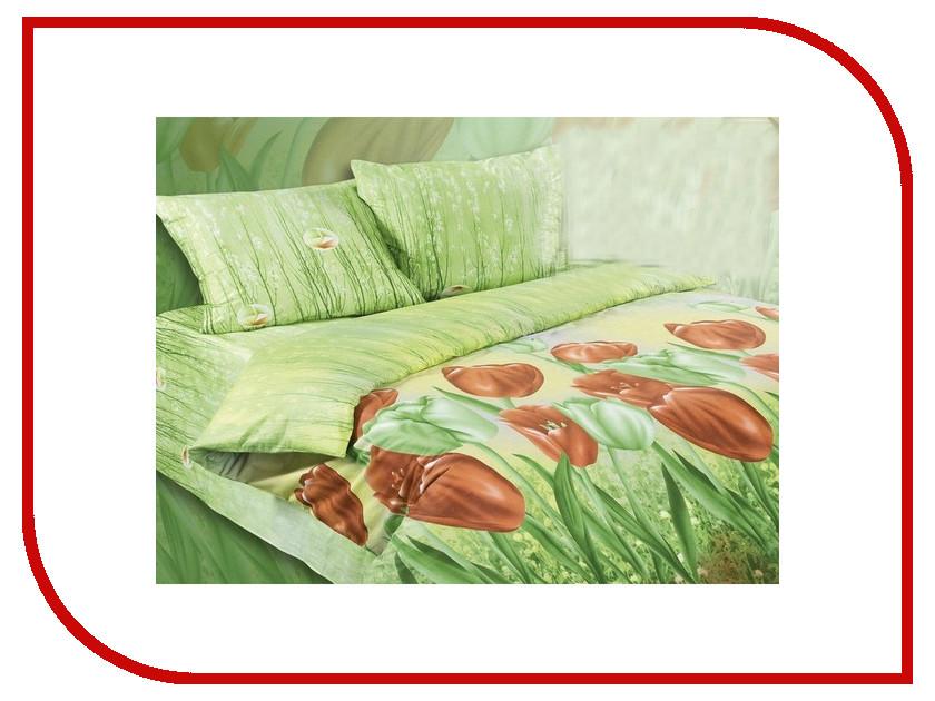Постельное белье Экзотика 304 Комплект 1.5 спальный Сатин картриджи 304
