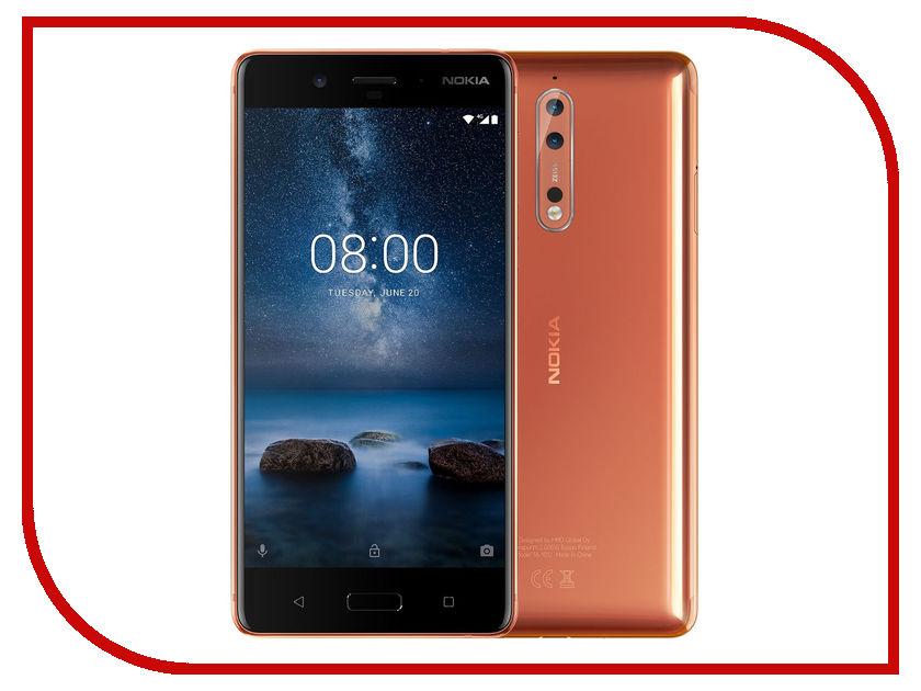 Сотовый телефон Nokia 8 Dual Sim Copper сотовый телефон nokia 2 dual sim white