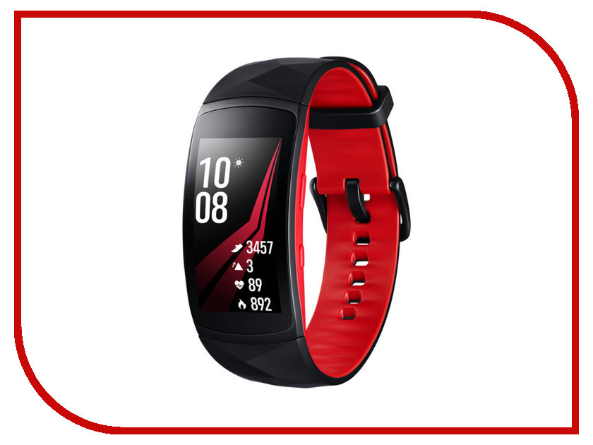 Умный браслет Samsung Gear Fit 2 Pro L Black-Red SM-R365NZRASER цена и фото