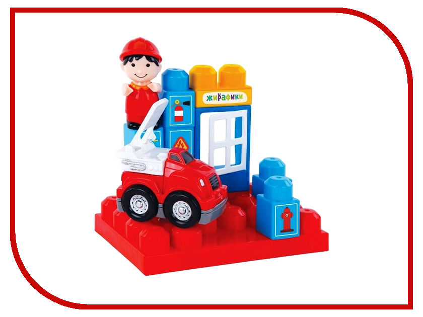 Конструктор Жирафики Пожарная станция 12 дет. 691188 ouaps пожарная станция бани 61139