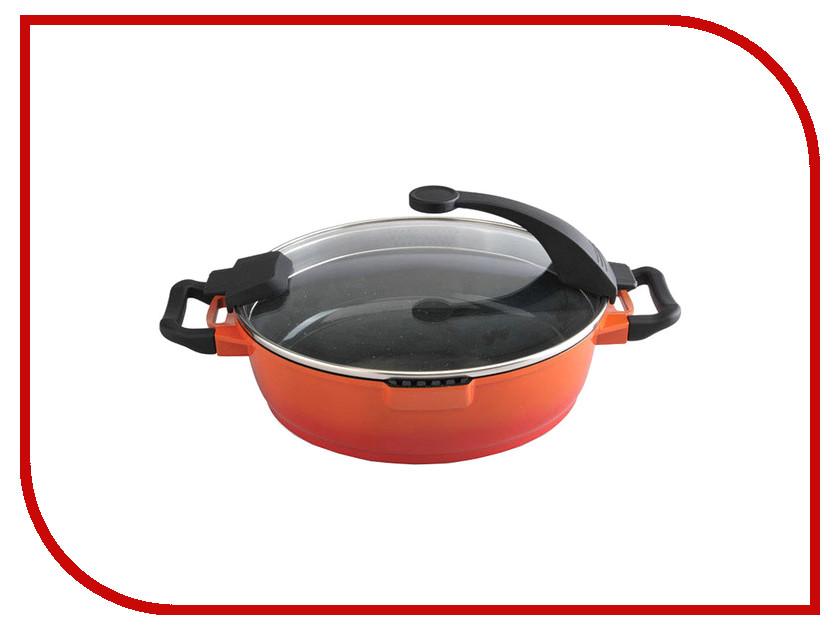 Сковорода Berghoff Virgo Orange 28cm 4.3L 2304150 кастрюля berghoff virgo orange с крышкой с антипригарным покрытием цвет оранжево красный 4 6 л