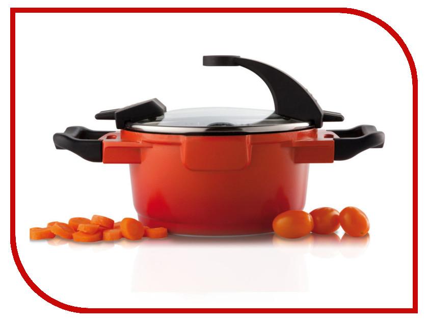 Кастрюля Berghoff Virgo Orange 16cm 1.5L 2304900 кастрюля berghoff virgo orange с крышкой с антипригарным покрытием цвет оранжево красный 4 6 л