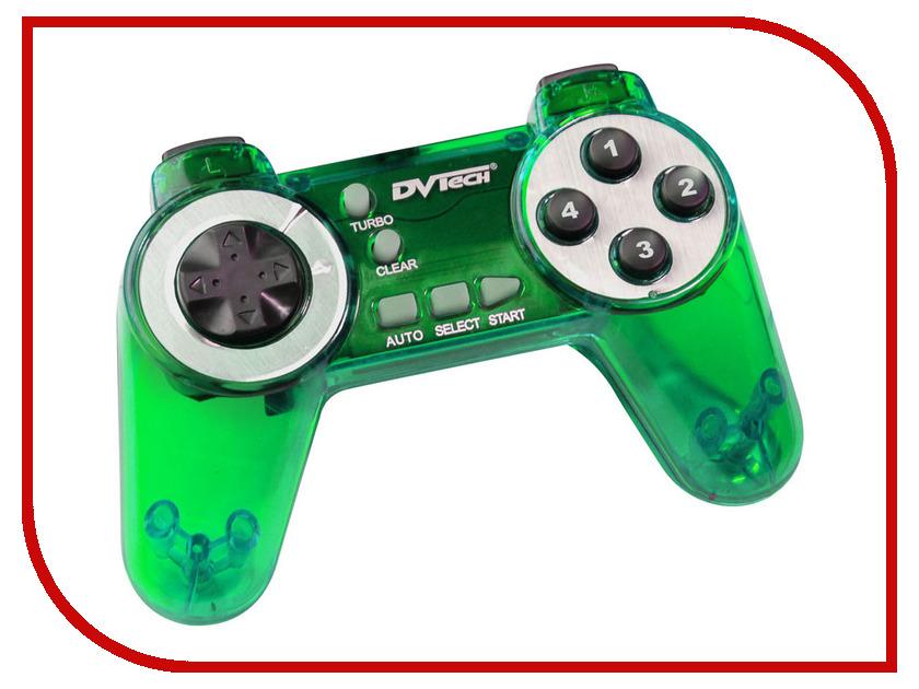 Геймпад DVTech JS11 One Green джойстик pc dvtech js19 gear синий
