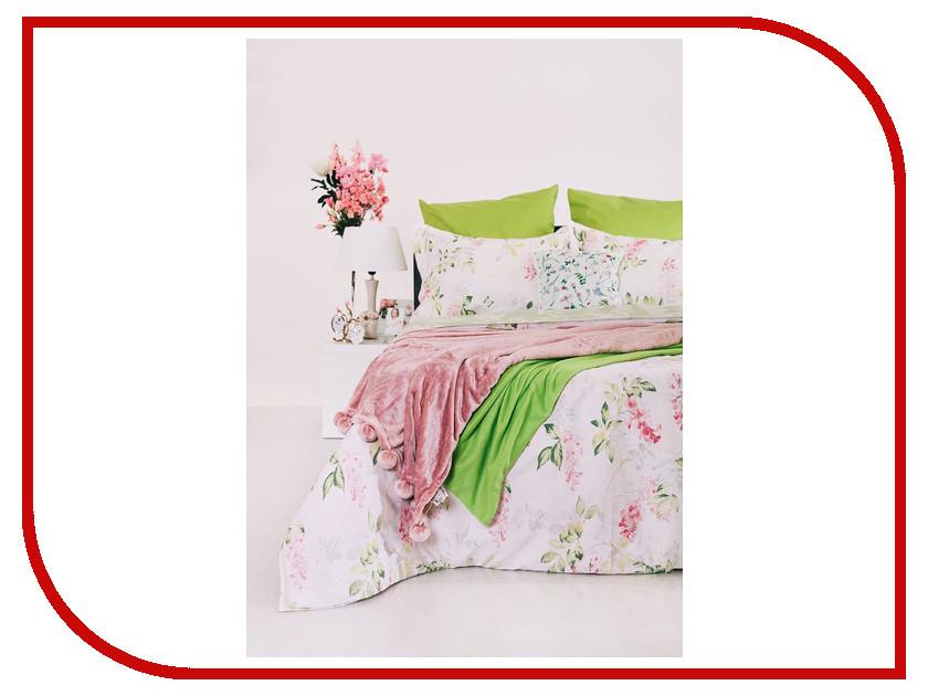 Постельное белье Этель Premium Зеленый сад Комплект 2 спальный Сатин 1773448 постельное белье этель зеленый сад комплект 1 5 спальный поплин 1534721