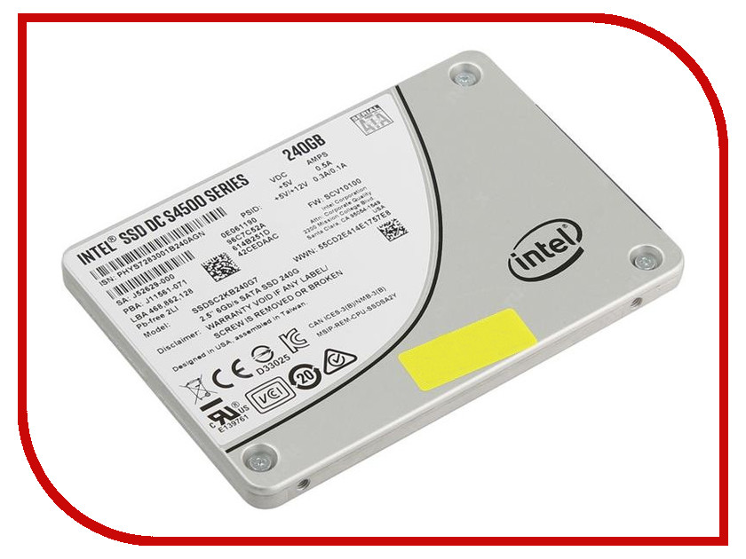 Жесткий диск 240Gb - Intel SSD DC S4500 Series SSDSC2KB240G701 жесткий диск 240gb patriot hellfire ph240gpm280ssdr