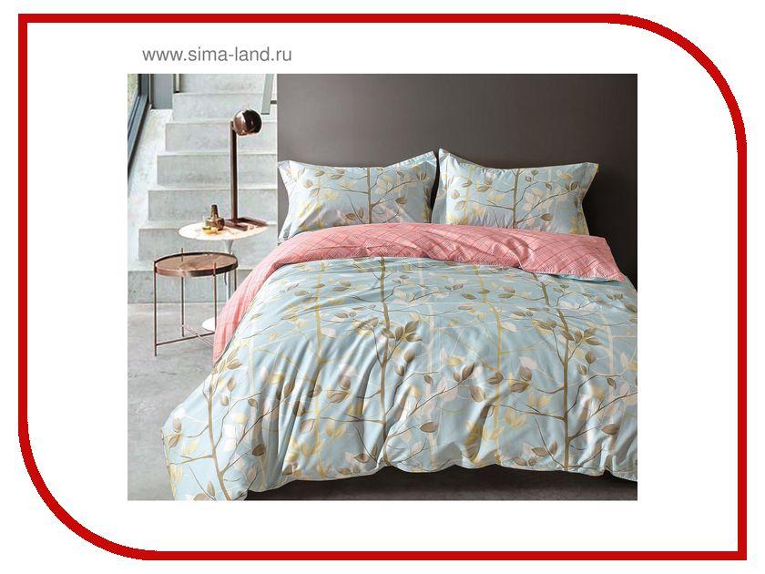 Постельное белье Этель Premium Цветочная бирюза Комплект 1.5 спальный Сатин 1773430 браслеты indira браслет бирюза коралл gl0143