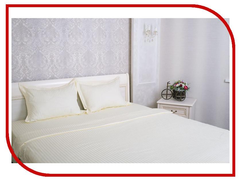 Постельное белье Этель Basic Комплект Евро Lactic Страйп-Сатин 1551482