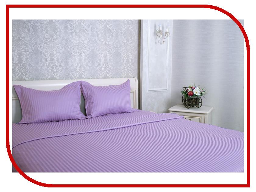 Постельное белье Этель Basic Комплект Евро Lilac Страйп-Сатин 1551447