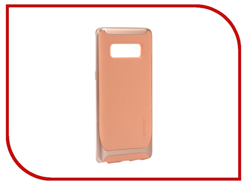 Аксессуар Чехол Spigen для Samsung Galaxy Note 8 Neo Hybrid Beige 587CS22088 аксессуар чехол spigen для samsung galaxy note 8ultra hybrid crystal pink 587cs22064