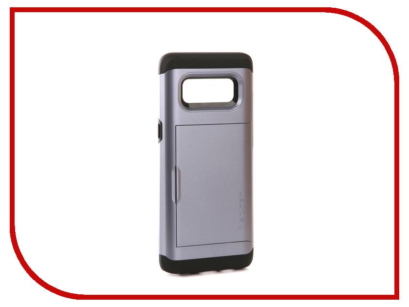 Аксессуар Чехол Spigen для Samsung Galaxy Note 8Slim Armor CS Grey 587CS22073 защитное стекло spigen glas t nano slim для samsung galaxy s5 sgp10726