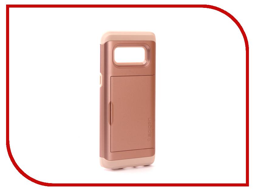 Аксессуар Чехол Spigen для Samsung Galaxy Note 8 Slim Armor CS Rose Gold 587CS22074 защитное стекло spigen glas t nano slim для samsung galaxy s5 sgp10726