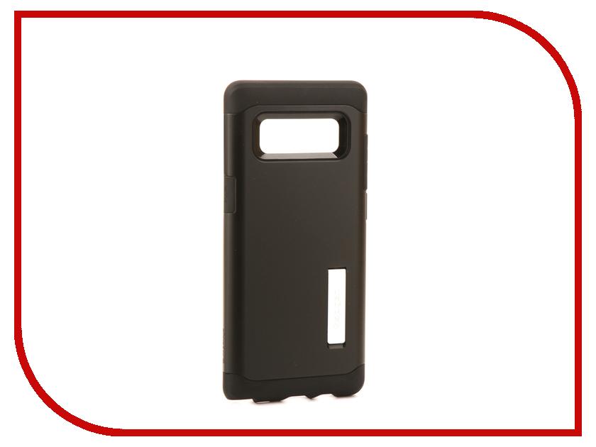 Аксессуар Чехол Spigen для Samsung Galaxy Note 8Slim Armor Black 587CS21835 аксессуар чехол spigen slim armor cs для apple iphone x black 057cs22155