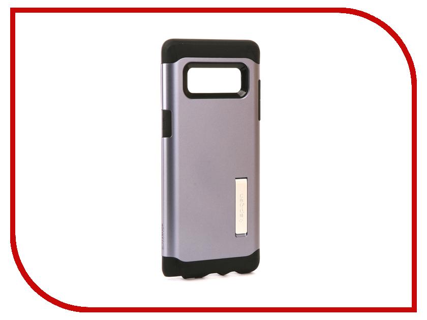 Аксессуар Чехол Spigen для Samsung Galaxy Note 8Slim Armor Grey 587CS21836 защитное стекло spigen glas t nano slim для samsung galaxy s5 sgp10726