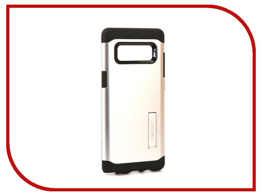 Аксессуар Чехол Spigen для Samsung Galaxy Note 8Slim Armor Silver 587CS21838 защитное стекло spigen glas t nano slim для samsung galaxy s5 sgp10726