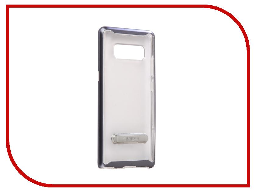 Аксессуар Чехол Spigen для Samsung Galaxy Note 8Crystal Hybrid Grey 587CS21841 аксессуар чехол spigen для samsung galaxy note 8ultra hybrid crystal pink 587cs22064