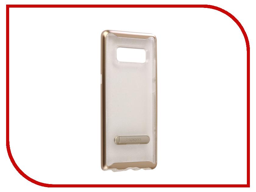 Аксессуар Чехол Spigen для Samsung Galaxy Note 8Crystal Hybrid Glitter Gold Quartz 587CS21844 аксессуар чехол spigen для samsung galaxy note 8ultra hybrid crystal pink 587cs22064