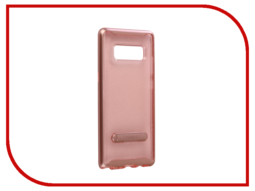 Аксессуар Чехол Spigen для Samsung Galaxy Note 8Crystal Hybrid Glitter Pink Quartz 587CS21845 аксессуар чехол spigen для samsung galaxy note 8ultra hybrid crystal pink 587cs22064