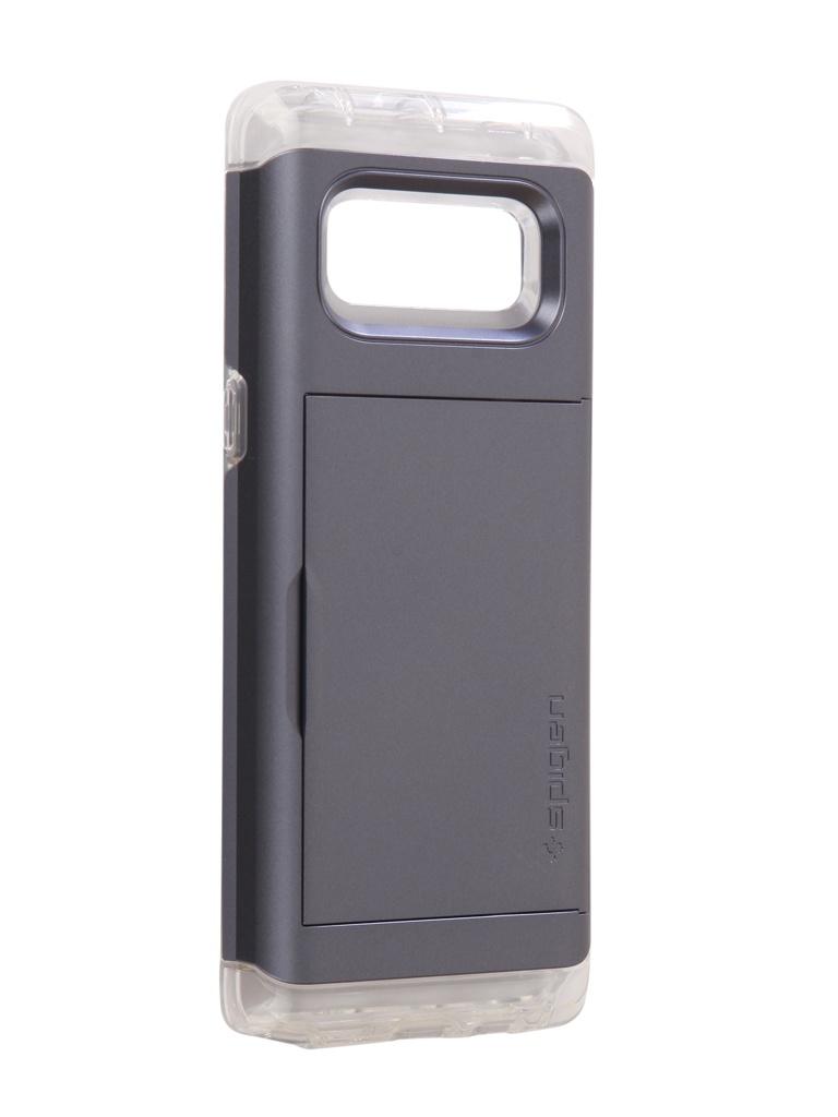 Аксессуар Чехол Spigen для Samsung Galaxy Note 8Crystal Wallet Grey 587CS21848