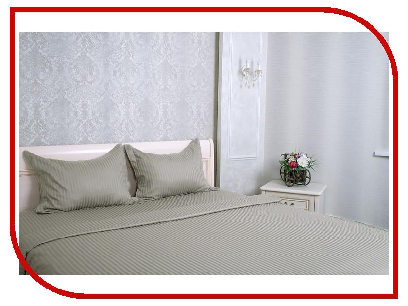Постельное белье Этель Basic Комплект Дуэт Stone Страйп-Сатин 1551462
