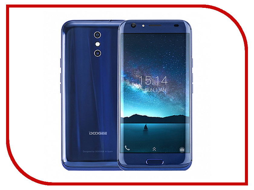 Сотовый телефон DOOGEE BL5000 Blue leather case embossed litchi pattern for doogee x5 max blue