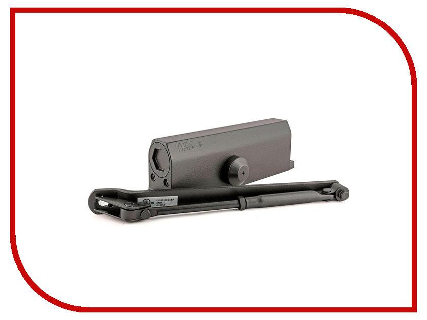 Доводчик дверной Нора-М №2S F до 50кг Black 16220 доводчик дверной нора м 3s 80кг bronze 4990