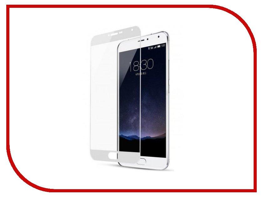 Аксессуар Закаленное стекло Meizu M6 Note DF Full Screen mzColor-17 White аксессуар закаленное стекло df isteel 06 для iphone 6