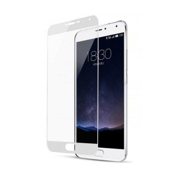 Закаленное стекло DF для Meizu M6 Note Full Screen mzColor-17 White