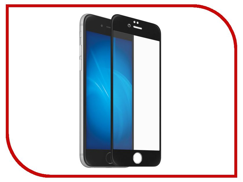 Аксессуар Закаленное стекло DF Full Screen 3D для iPhone 7 / 8 iColor-11 Black аксессуар закаленное стекло df full screen для iphone 7 plus 8 plus icolor 16 white
