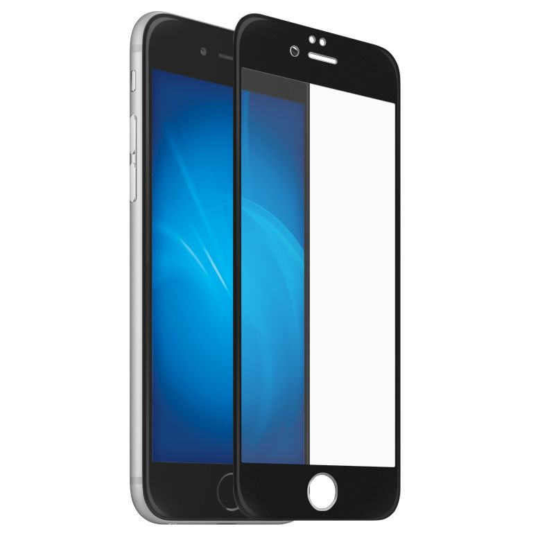 Аксессуар Закаленное стекло DF для iPhone 7 / 8 Full Screen 3D iColor-11 Black glare free screen protector with cleaning cloth for iphone 3g