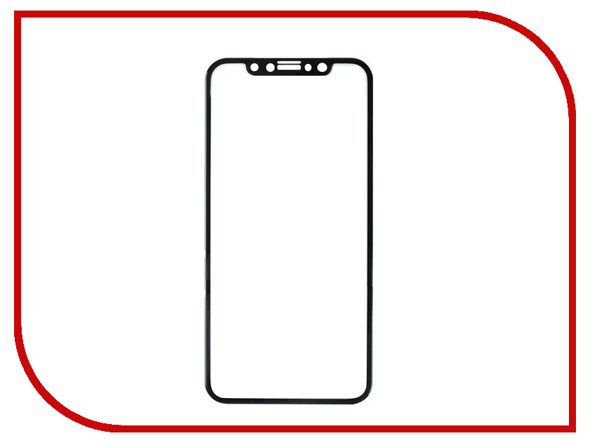 Аксессуар Закаленное стекло DF Full Screen 3D для iPhone X iColor-13 Black аксессуар закаленное стекло df isteel 06 для iphone 6