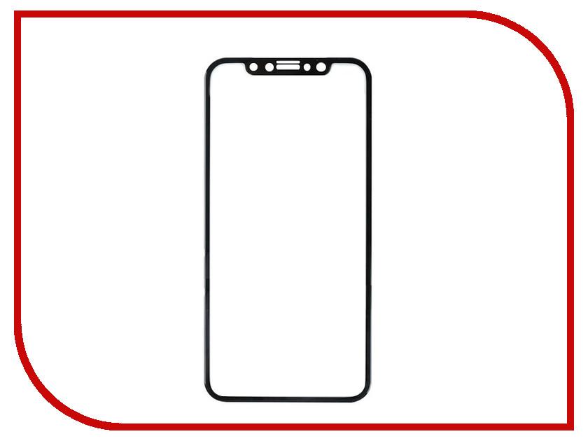 Аксессуар Закаленное стекло DF Full Screen 3D для iPhone X iColor-13 Black аксессуар закаленное стекло df full screen для iphone 7 plus 8 plus icolor 16 white