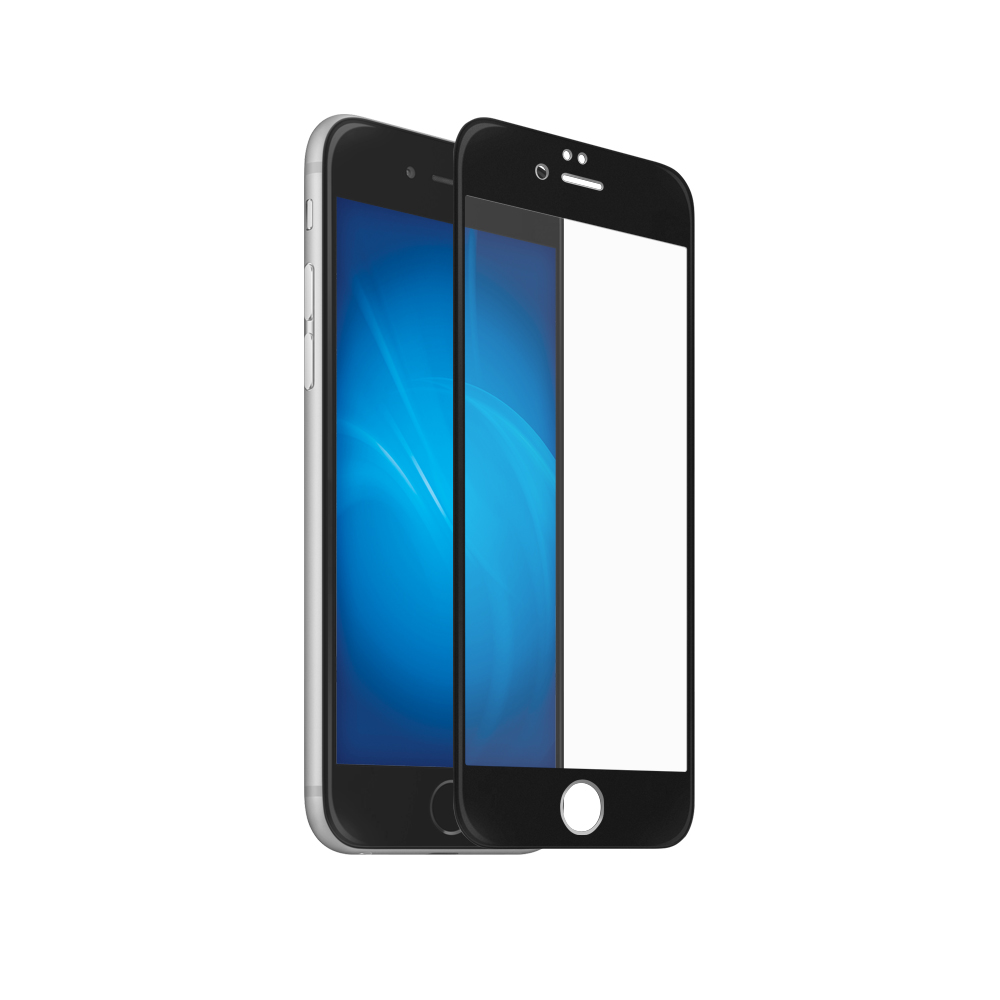 Аксессуар Закаленное стекло DF для iPhone 7 / 8 Full Screen iColor-15 Black glare free screen protector with cleaning cloth for iphone 3g