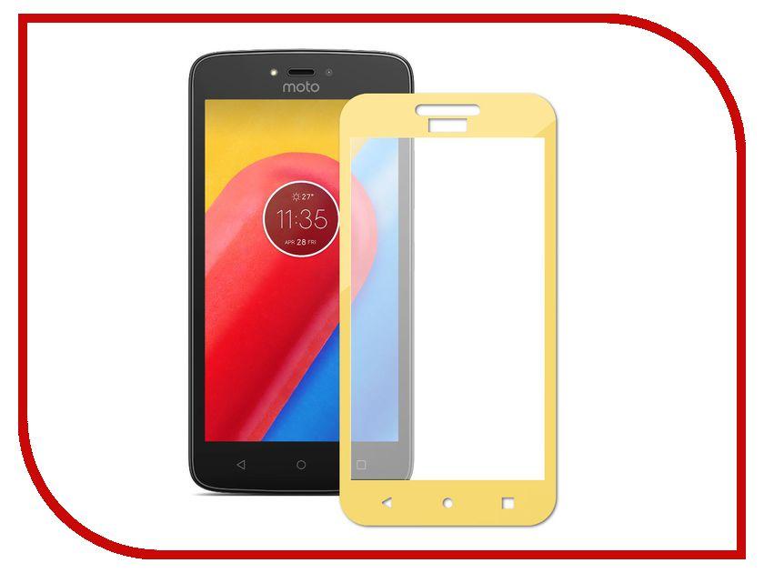 Аксессуар Закаленное стекло Motorola Moto C DF Fullscreen mColor-01 Gold аксессуар df 30pin usb df imagnet 01 white
