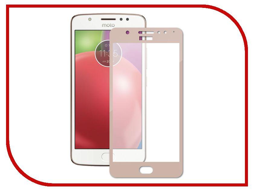 Аксессуар Закаленное стекло Motorola Moto E4 DF Fullscreen mColor-03 Gold защитное стекло df mcolor 02 для motorola moto c plus 1 шт черный [df mcolor 02 black ]