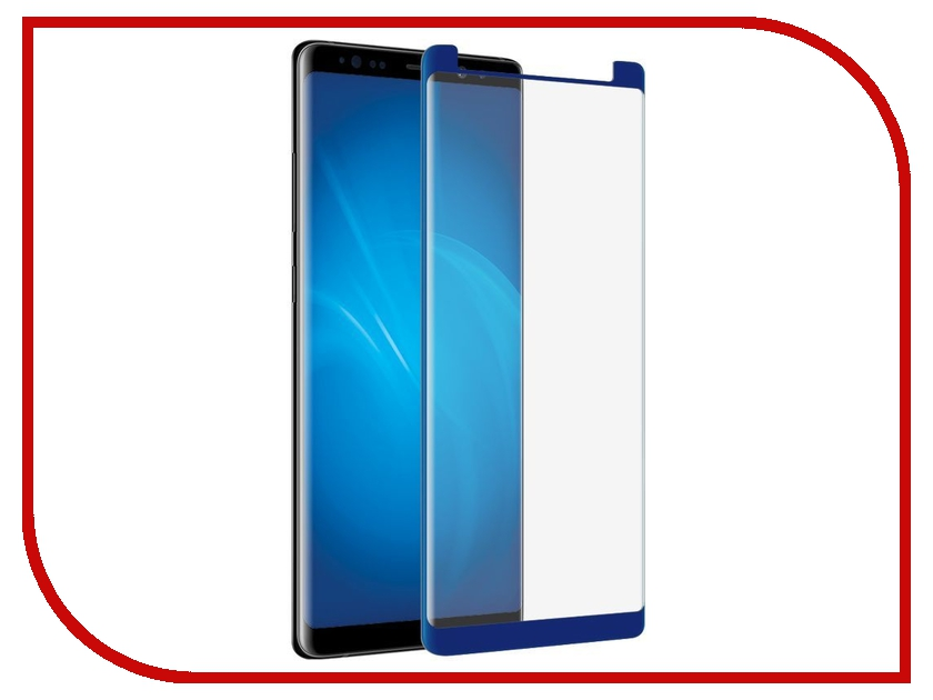 Аксессуар Закаленное стекло Samsung Galaxy Note 8 DF Full Screen 3D sColor-26 Blue df scolor 08