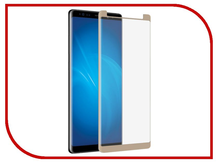 Аксессуар Закаленное стекло Samsung Galaxy Note 8 DF Full Screen 3D sColor-26 Gold df scolor 08