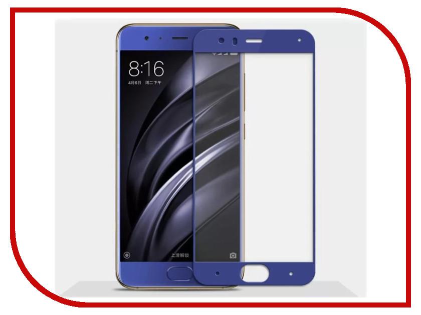Аксессуар Закаленное стекло Xiaomi Mi 6 DF Full Screen xiColor-14 Blue аксессуар закаленное стекло df isteel 06 для iphone 6