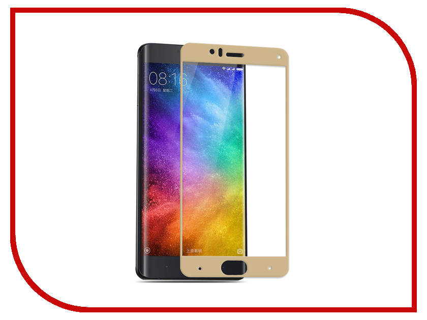 Аксессуар Закаленное стекло Xiaomi Mi 6 DF Full Screen xiColor-14 Gold аксессуар закаленное стекло xiaomi redmi 4 pro 4 prime df full screen xicolor 09 gold