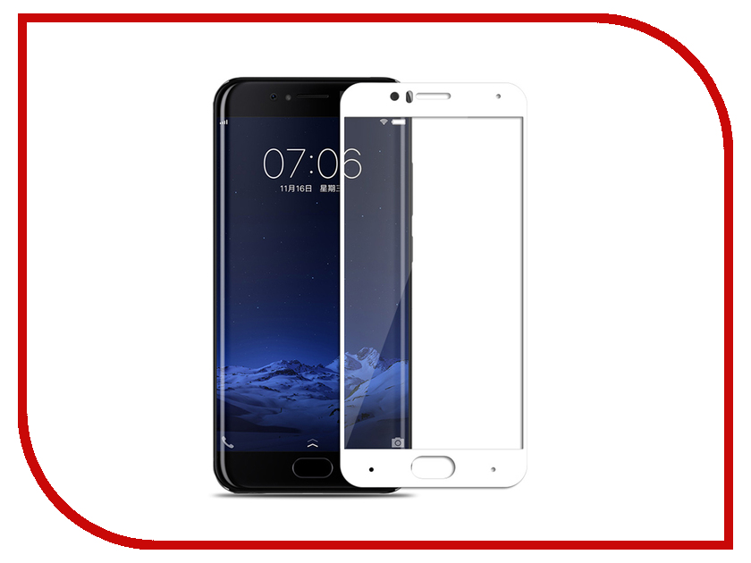 Аксессуар Закаленное стекло Xiaomi Mi 6 DF Full Screen xiColor-14 White аксессуар закаленное стекло xiaomi redmi 4 pro 4 prime df full screen xicolor 09 gold
