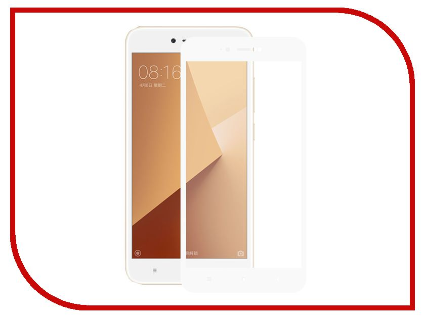 Аксессуар Закаленное стекло для Xiaomi Redmi Note 5A DF Full Screen xiColor-17 White for lenovo zuk z2 lcd screen display with touch screen digitizer panel glass assembly black white replacement parts free shipping