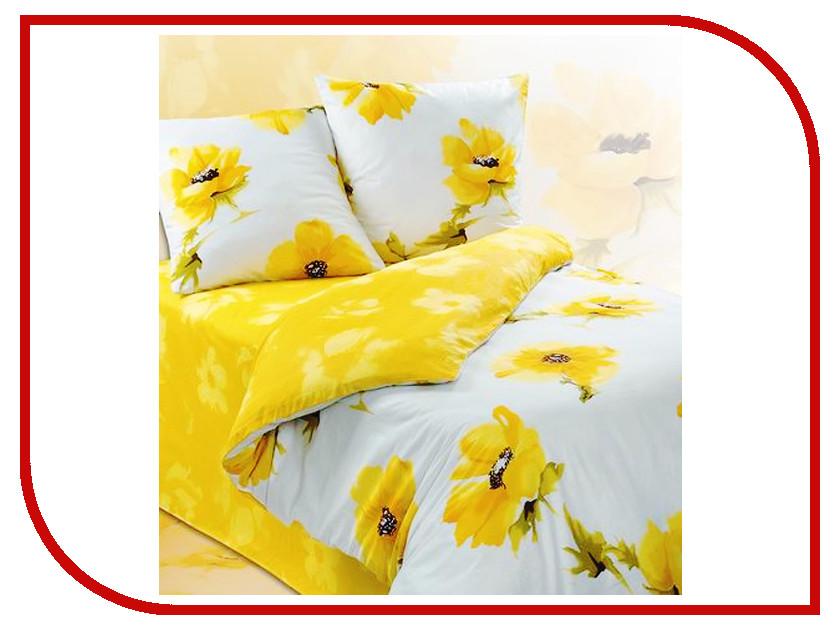 Постельное белье Экзотика Купава Комплект 2 спальный, простыня на резинке Поплин постельное белье экзотика адель комплект 1 5 спальный поплин
